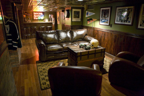 Image: Irish sports pub man cave